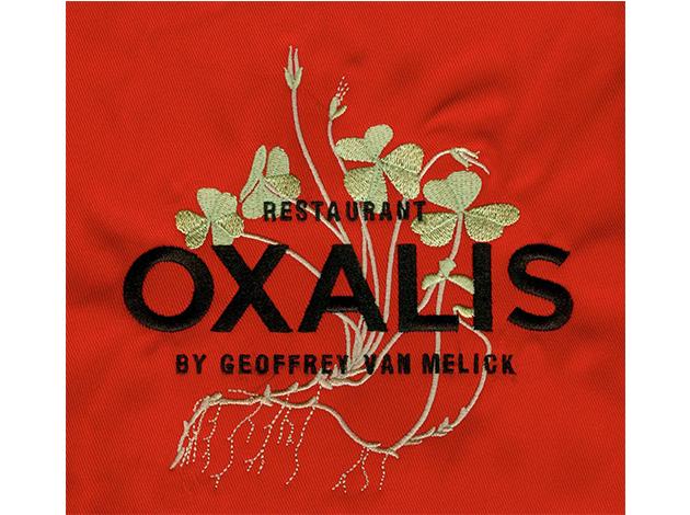 Oxalis - Borduurvoorbeeld